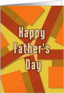 Happy Father's Day Kaleidoscope Squares card