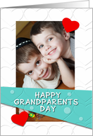 Happy Grandparents Day Hearts Photo Card