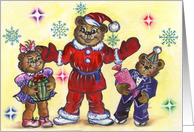 Merry Christmas and Happy New Year!For grandchildren card