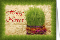 Happy Norooz - wheat grass card