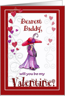 Little Red Hatter, Valentine to Dearest Daddy card