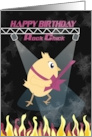 Rock Music Chick - Happy Birthday card