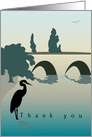 Heron in River - Thank You for your Patience card