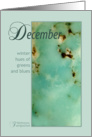 Turquoise December Birthday card