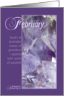 February Birthstone Birthday card
