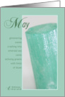May Birthstone Birthday card