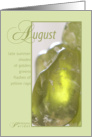 August Birthstone Birthday card