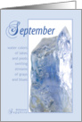 September Sapphire Birthstone Birthday card