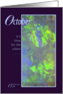 October Birthstone Birthday card