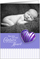 Capture Heart - Photo Card Baby Announcement card