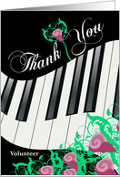 Keys and Roses - Thank You Church Musician card