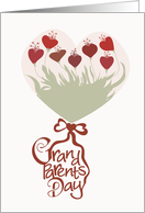 Heart Bouquet - Grandparents Day card