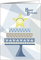 Star - Police Officer Happy Birthday card