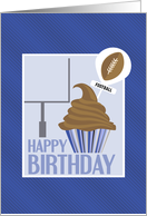 Cupcake and Football Pick - Happy Birthday card