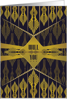Art Deco Drop - Will You Be My Bridesmaid card