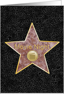 Star of Fame - Movie Night Invite card