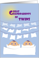 Great Grandparents Twins - Congrats card