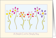 Thinking of you, flowers card