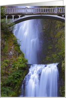 Footbridge Over Multnomah Falls card