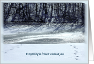 Miss you- Everything is frozen without you card