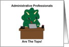 Administrative Professionals Day, Triceratops Dinosaur card