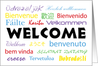 Multilanguage Welcome Card - All Languages card