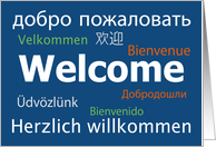 Multilanguage Welcome Blue Card - All Languages card