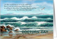 National Doctors' Day, Seascape with Seagull and Beach card