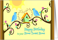 Happy Birthday to your House, Home Anniversary from Realtor card