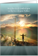 Sympathy for Loss of Dad, Loss of Father, Cross and Sunrise Light card
