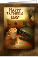 To Brother on Father's Day Coffee Mug and Books card