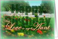 To Aunt, Birthday Flower Garden card