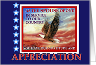 Thank You, Military Spouse Appreciation Day, Flying Eagle card