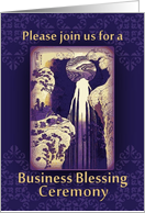 Invitation to Business Blessing Ceremony, Prosperity Waterfall card