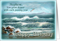 Nephew Birthday, Ocean Waves card