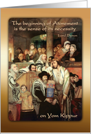 Yom Kippur, Jewish Day of Atonement, Forgiveness card