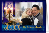 Shalom at Hanukkah, Photo Card