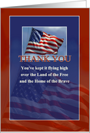 Thank You for Military Service, American Flag card