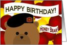 Honey Bear/ Husband - Happy Birthday to Your Favorite Army Warrior - U.S. Army card