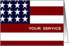 Like the Stitches on Our Flag -Military Spouse Appreciation Day card