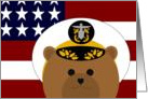 Thinking of My Favorite Navy Officer (O-5 & Up) - Uniform (Male) card