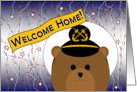 Welcome Home! Navy - Uniform Cap - Male Chief Bear card