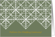 Reverend - Would You Perform Our Wedding Ceremony? - Celtic Lace Like card