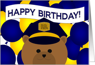 Happy Birthday to Your Favorite Police Officer card