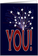 You Deserve Fireworks & Stars - Military Spouse Appreciation Day card