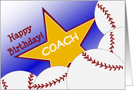Wish a Baseball Coach a Happy Birthday with Good Quote card