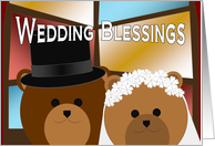 Wedding Blessings & Congratulations - Sweet Bears Stained Glass card