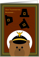 Boyfriend - Thanksgiving Blessings Across Miles - Coast Guardsman card