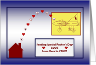 Happy Father's Day - To a Deployed Military Dad - Air Force/Naval Aviation card