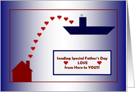 Happy Father's Day - To a Deployed Navy Dad - Carrier card